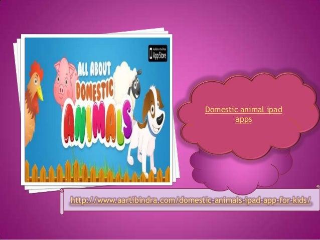 Domestic animal ipad apps