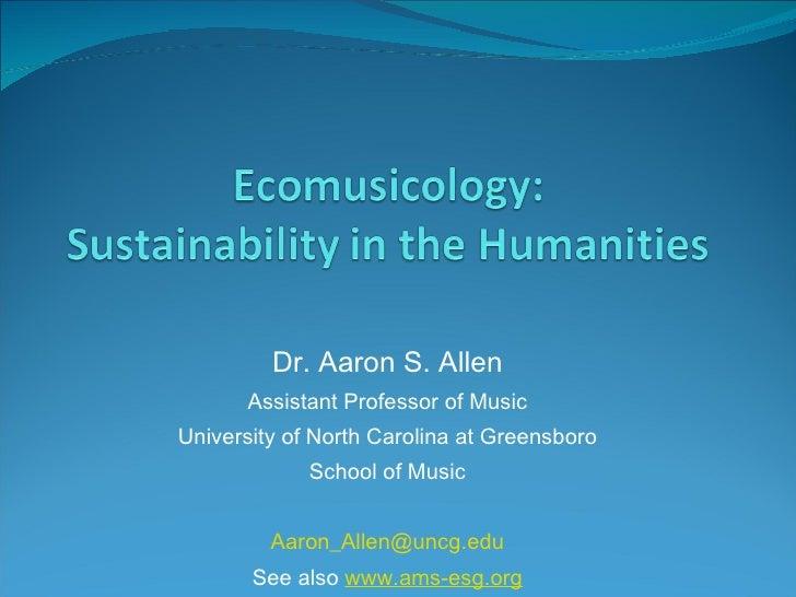 Ecomusicology