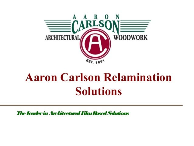 ACC Logo The Leader in Architectural Film Based Solutions Aaron Carlson Relamination Solutions