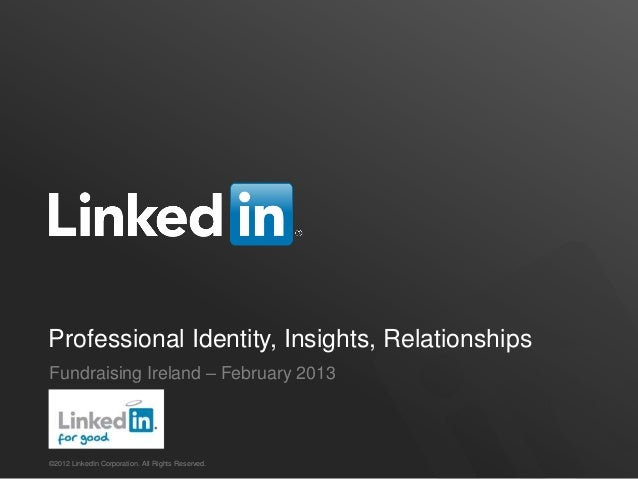 Fundraising Ireland & LinkedIn February 2013