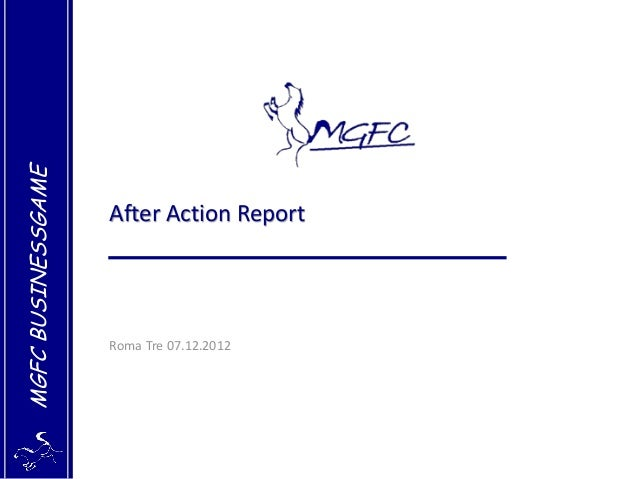 After Action Report Roma Tre 07-12-2012