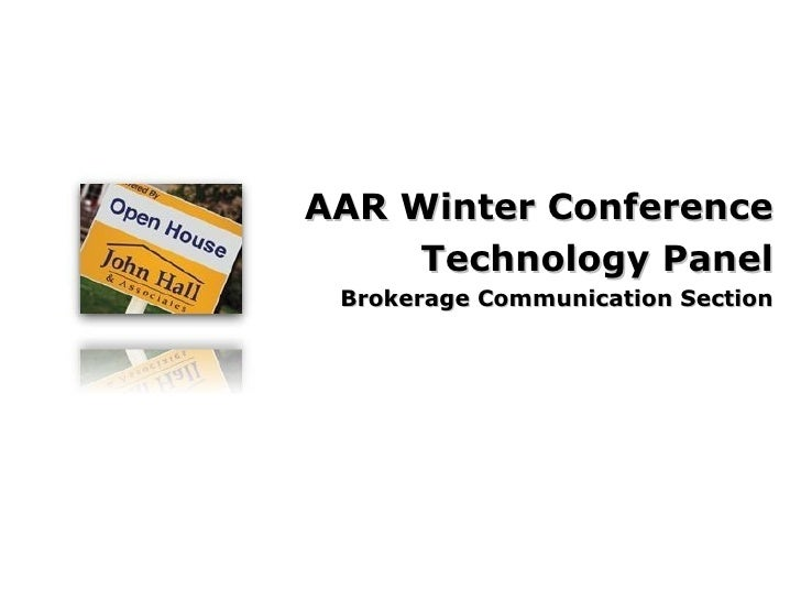 AAR Winter Conference Technology Panel Brokerage Communication Section