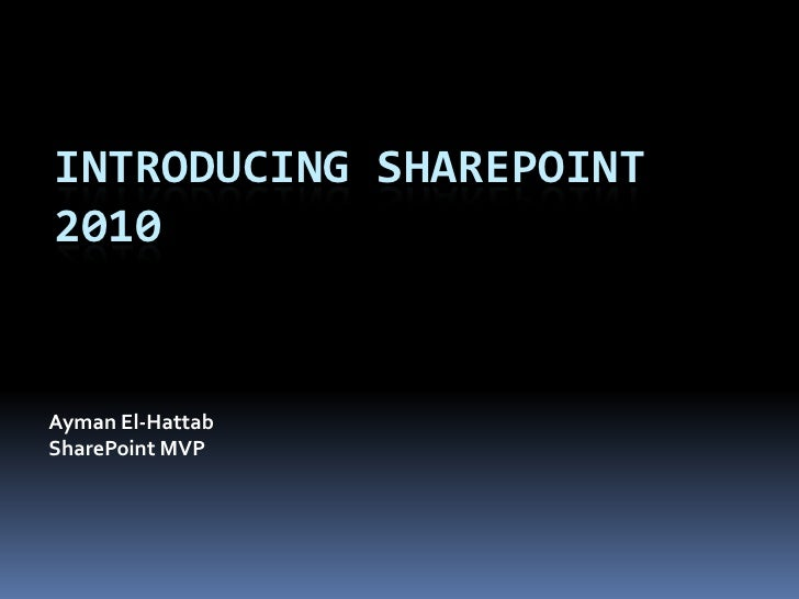 Introducing SharePoint 2010 to Computer Science Students
