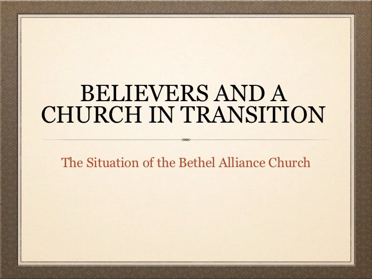 AA A Church in Transition