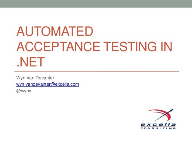 Automated Acceptance Tests in .NET