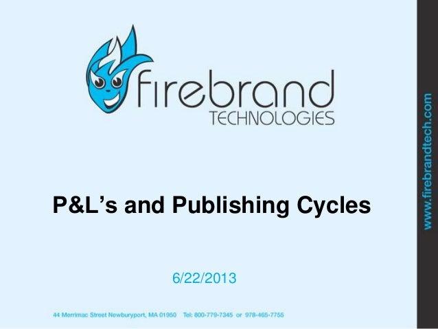 AAUP 2013: P&Ls (F. Toolan)