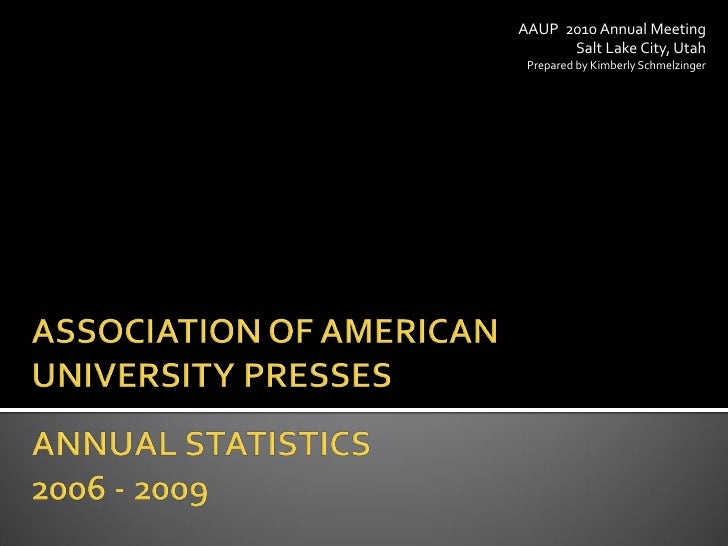 Aaup annual meeting 2009 operating stats