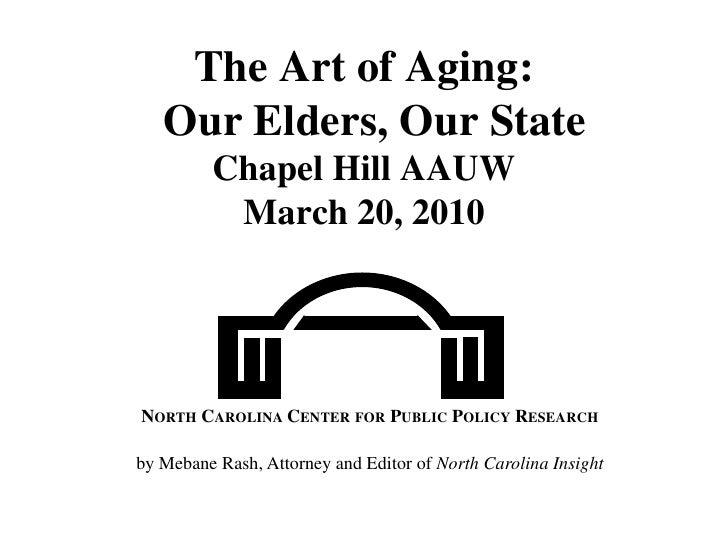 Fraud Committed Against the Elderly in N.C.