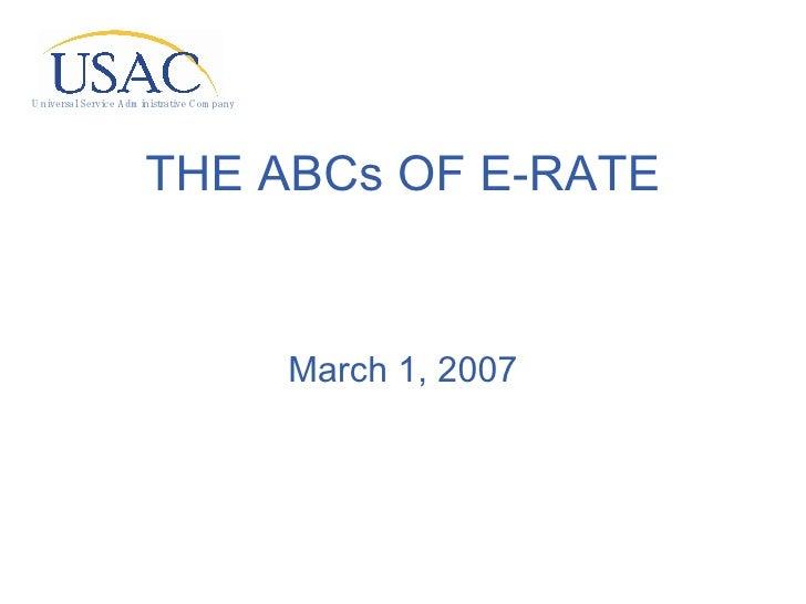 Ab Cs Of Erate   3 1 2007