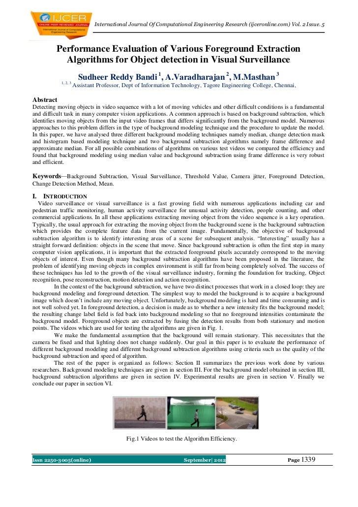 International Journal Of Computational Engineering Research (ijceronline.com) Vol. 2 Issue. 5          Performance Evaluat...
