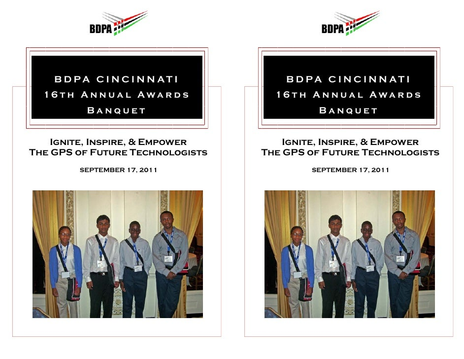 BDPA Cincinnati Chapter Awards Banquet Souvenir Book