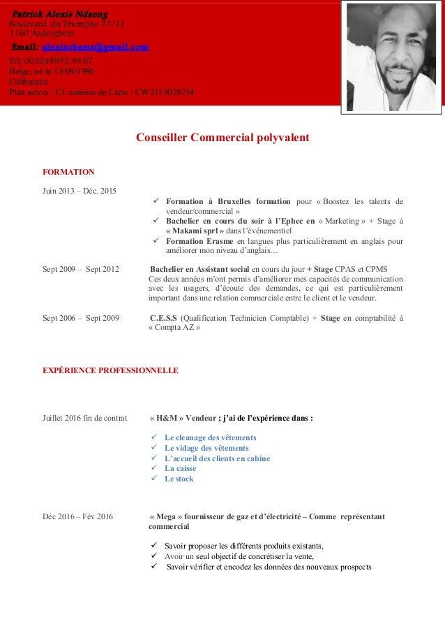 Conseiller Commercial polyvalent FORMATION Juin 2013 – Déc. 2015  Formation à Bruxelles formation pour « Boostez les tale...
