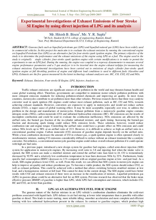 www.ijmer.com  International Journal of Modern Engineering Research (IJMER) Vol. 3, Issue. 5, Sep - Oct. 2013 pp-2600-2605...