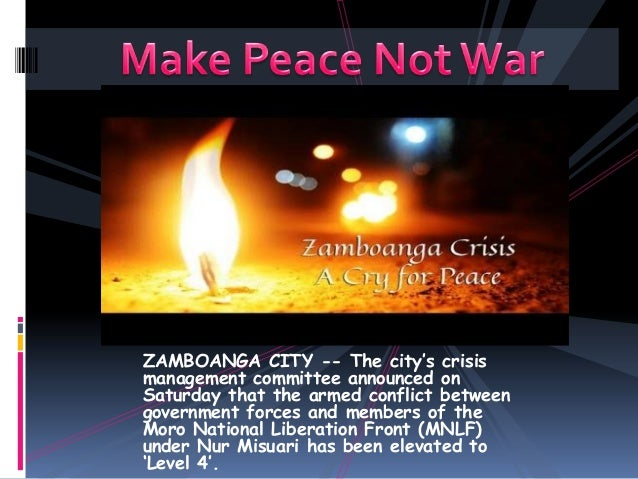 ZAMBOANGA CITY -- The city's crisis management committee announced on Saturday that the armed conflict between government ...