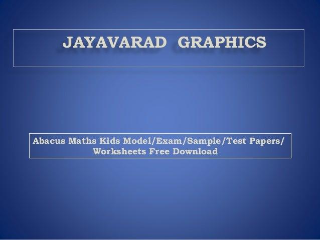 math worksheet : abacus level 2 worksheets free download  abacus maths kids model  : Download Maths Worksheets