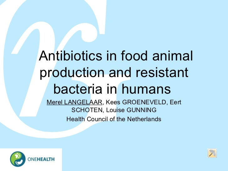 Antibiotics in food animal production and resistant bacteria in humans