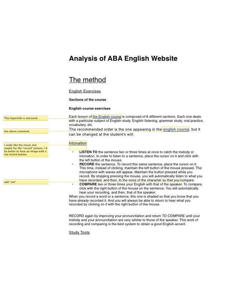 ABA English Web Analysis