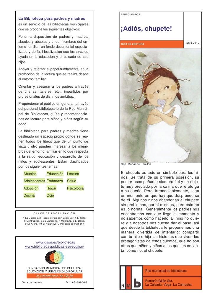 BEBECUENTOSLa Biblioteca para padres y madreses un servicio de las bibliotecas municipalesque se propone los siguientes ob...