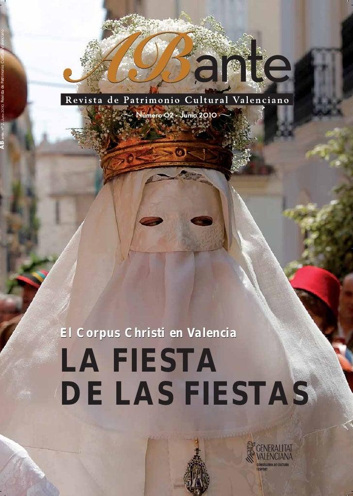 ABante, nº 2. Junio 2010. Revista de Patrimonio Cultural Valenciano                                                       ...
