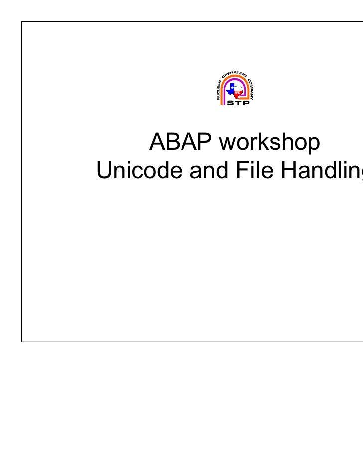 Abap slide class4 unicode-plusfiles