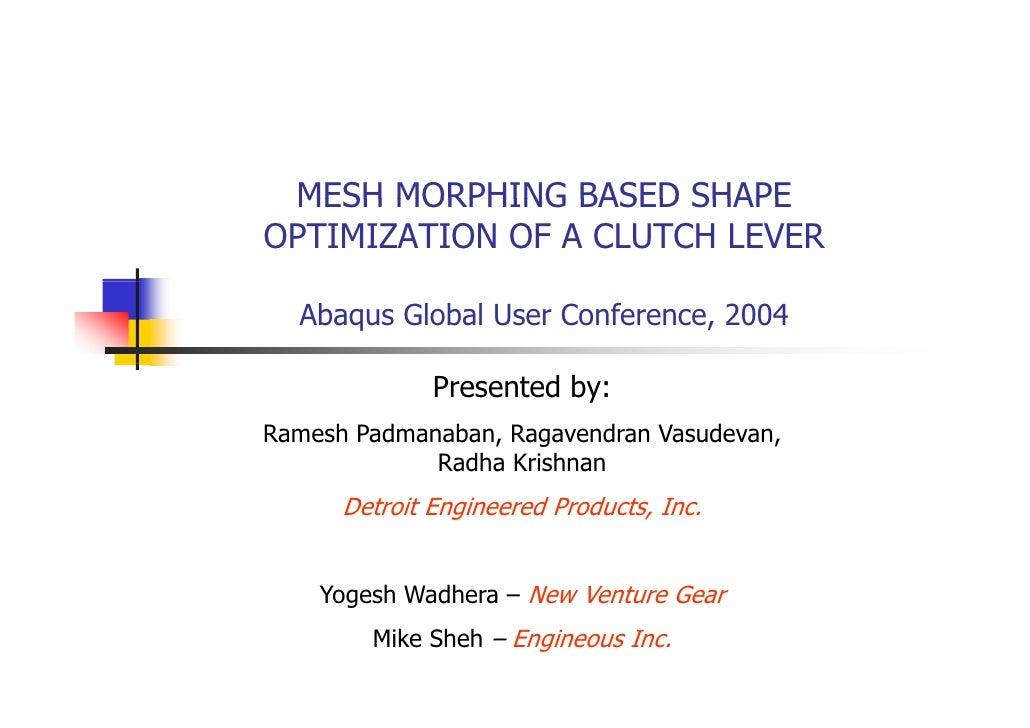 Abaqus2004 Morpher Isight