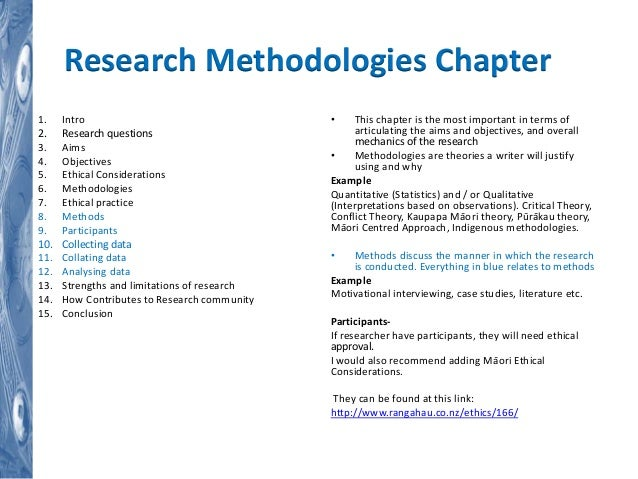 Dissertation research methodology structure