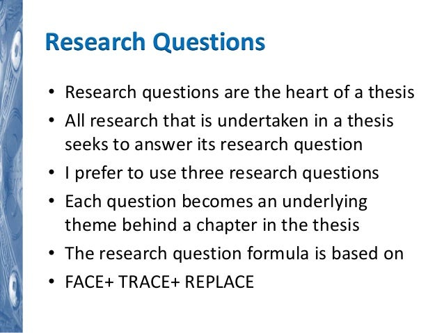 thesis based research report