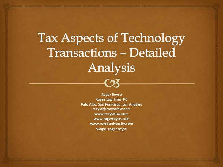Aba tax aspects of ip detailed analysis 110814