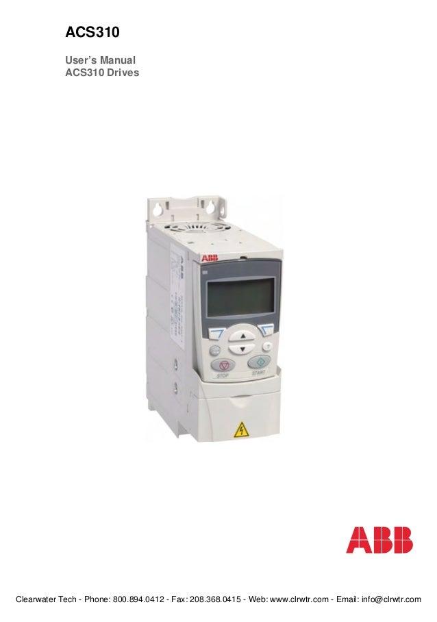 Tài liệu biến tần ABB ACS310