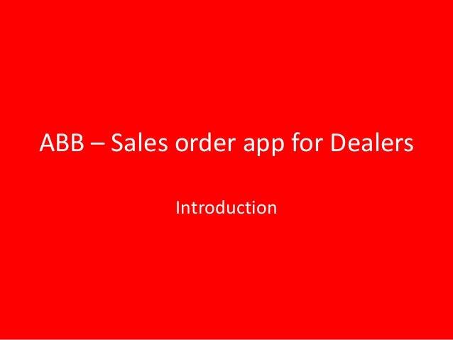 Abb app-presentation-disha