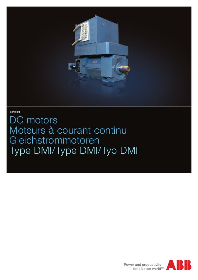 Abb dc motors dmi catalog for Abb electric motor catalogue