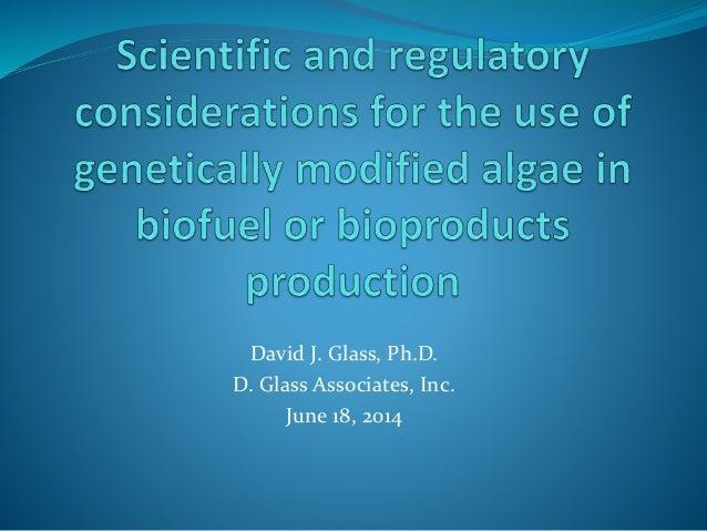 David Glass Plenary Presentation at 4th Algal Biomass, Biofuels and Bioproducts Confeence