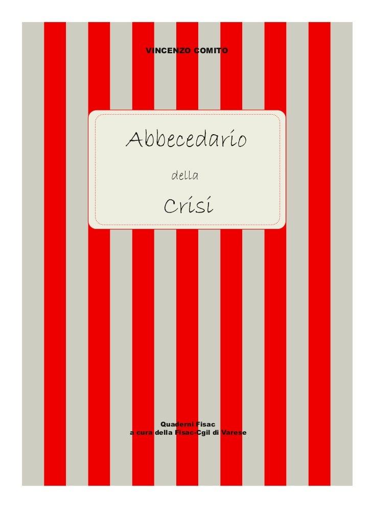 Abbecedario della crisi a cura della Fisac Cgil Varese