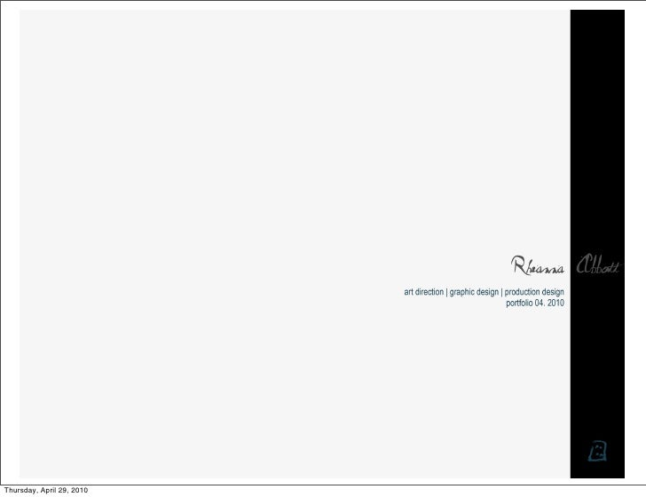 Rheanna Abbott's Design Portfolio