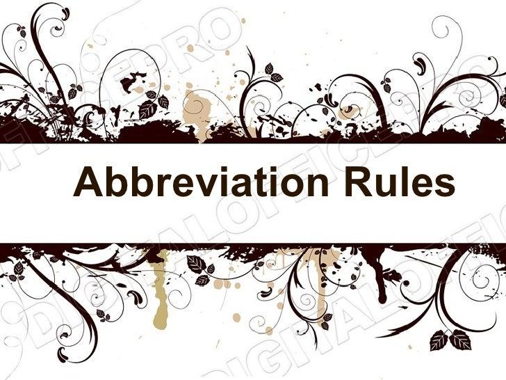 Abbreviations powerpoint (ms standard 4b2)