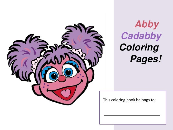 Free Abby Cadabby Coloring Pages