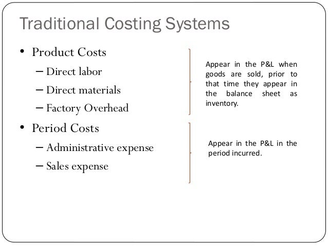 abc vs traditional method The six assumptions of activity-based costing (abc) activity-based costing is a method that recognizes the  abc is different than traditional costing in the way.