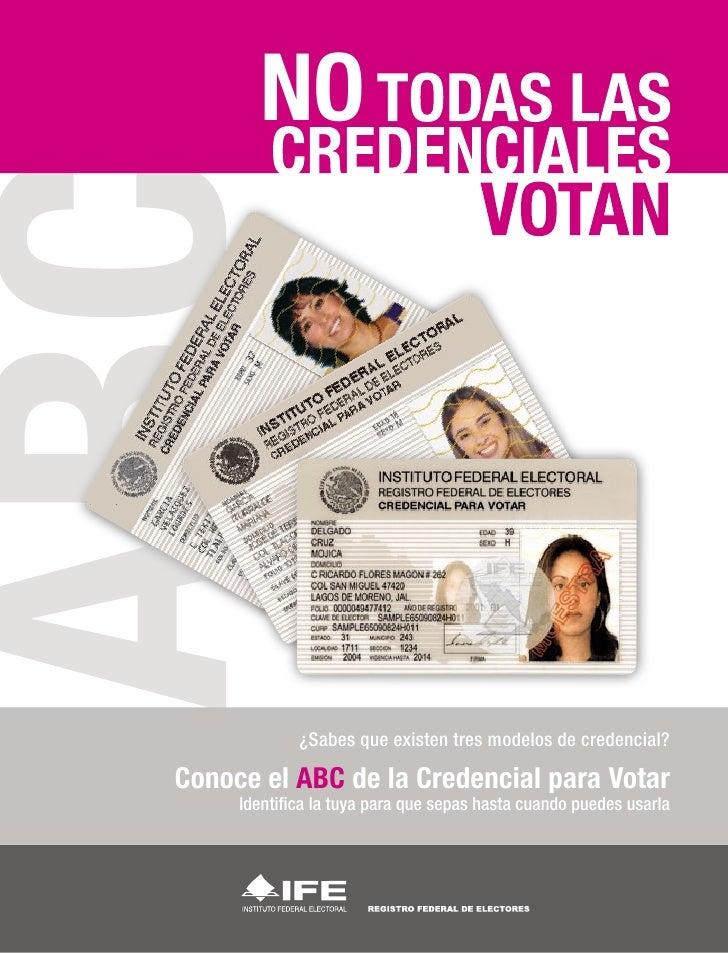Credencial para votar - Elementos de seguridad - IFE