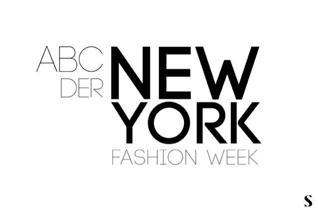 Sprechen Sie Fashion?  Das Fashion Week-ABC für New York,