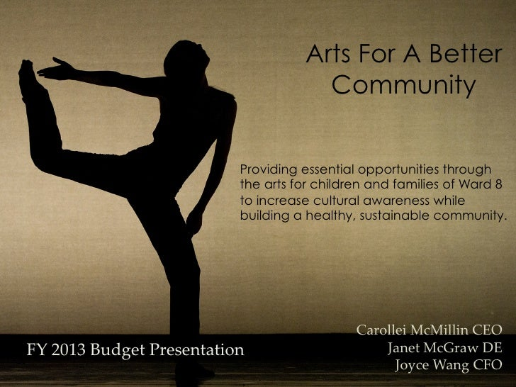 Arts For A Better                                         Community                             Providing essential opport...