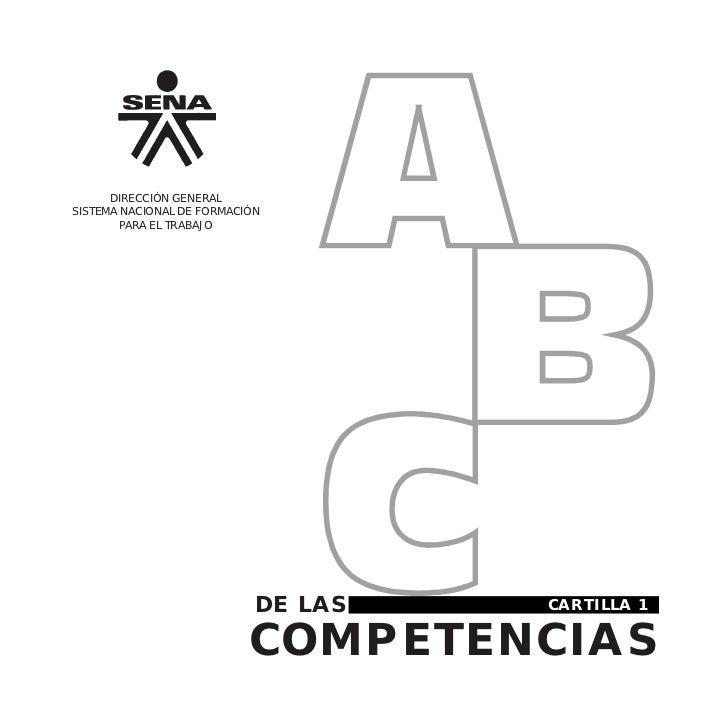 DIRECCIÓN GENERALSISTEMA NACIONAL DE FORMACIÓN        PARA EL TRABAJO                            DE LAS        CARTILLA 1 ...