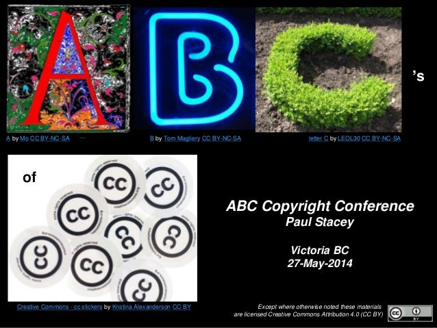 Except where otherwise noted these materials are licensed Creative Commons Attribution 4.0 (CC BY) ABC Copyright Conferenc...