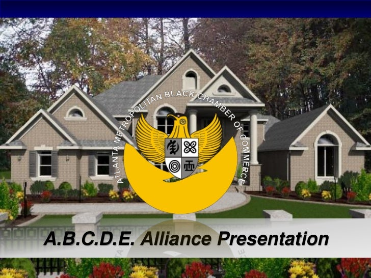 A.B.C.D.E. Alliance Presentation