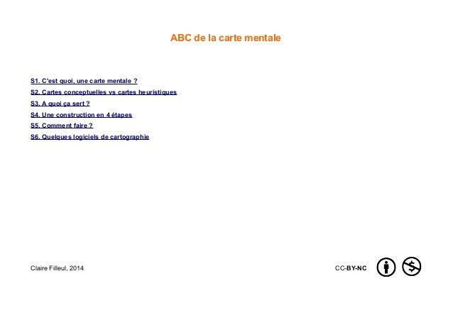 ABC de la carte mentale S1. C'est quoi, une carte mentale ? S2. Cartes conceptuelles vs cartes heuristiques S3. A quoi ça ...