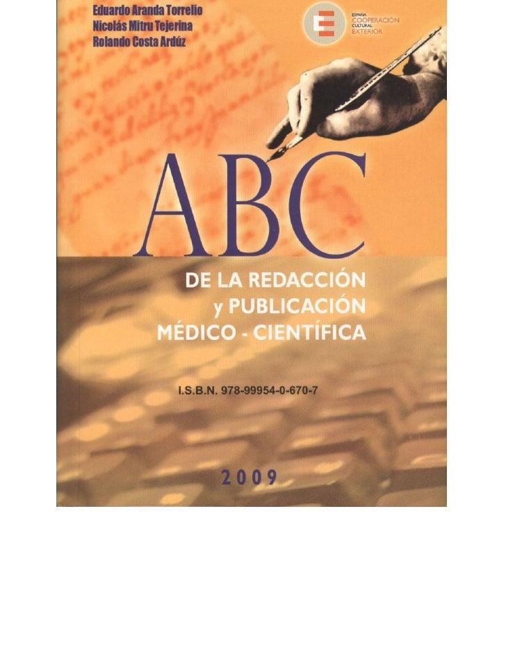 Abc de redaccion cientifica 2009
