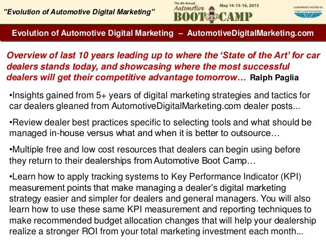 Evolution of Automotive Digital Marketing – AutomotiveDigitalMarketing.comOverview of last 10 years leading up to where th...