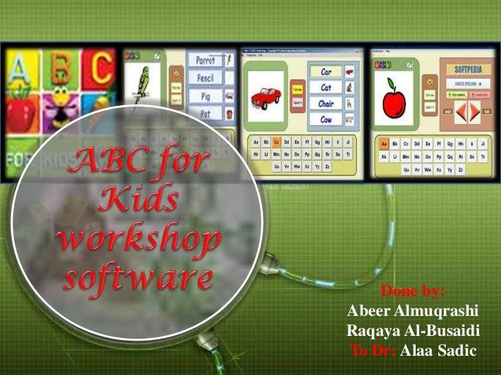 Abc for kids_workshop_software