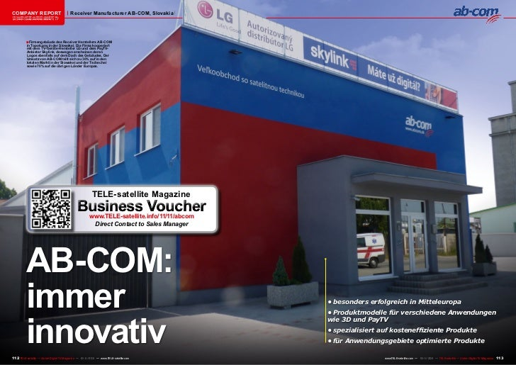 COMPANY REPORT                           Receiver Manufacturer AB-COM, Slovakia该独家报道由高级编辑所作         ■ Firmengebäude des Re...