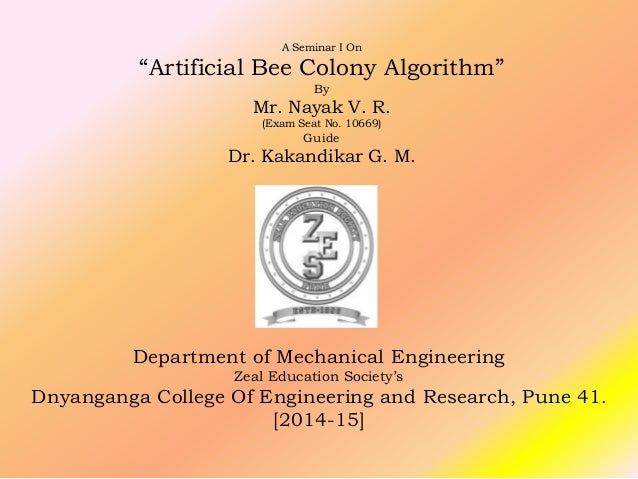 bee colony optimization thesis