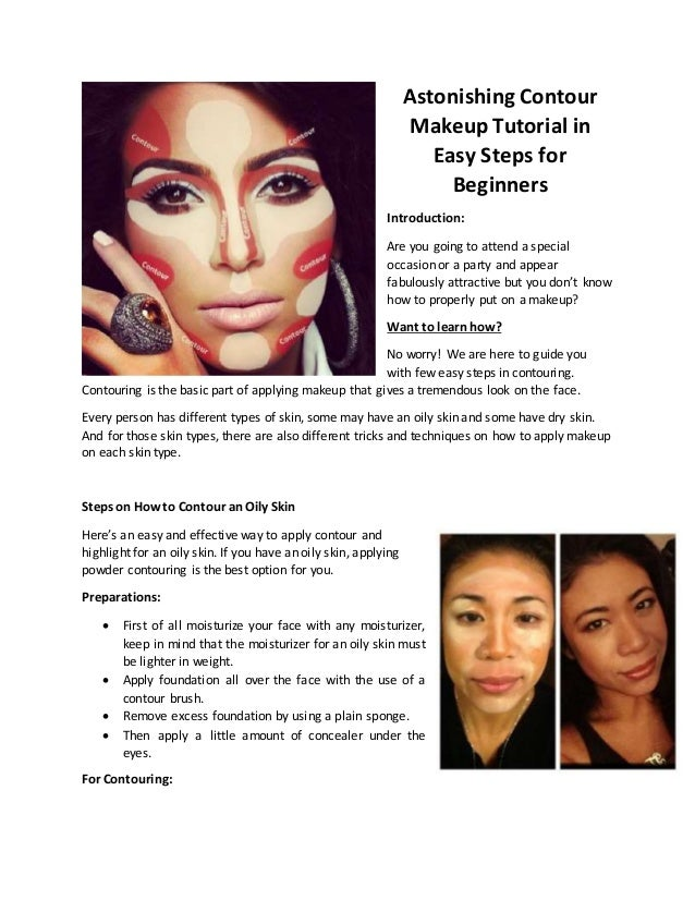 Learn how to apply makeup